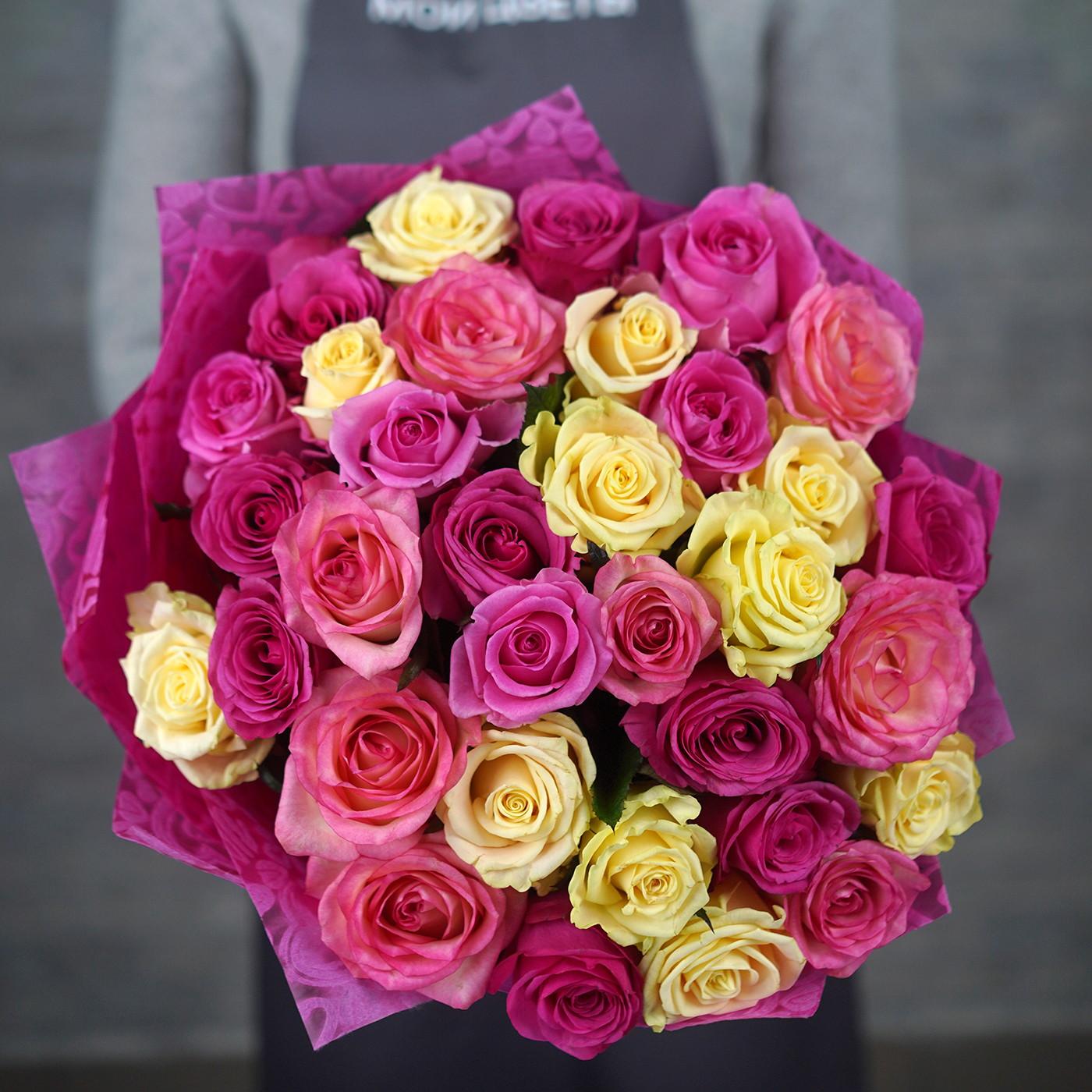 Букет из 31 розы «Розовый фламинго»