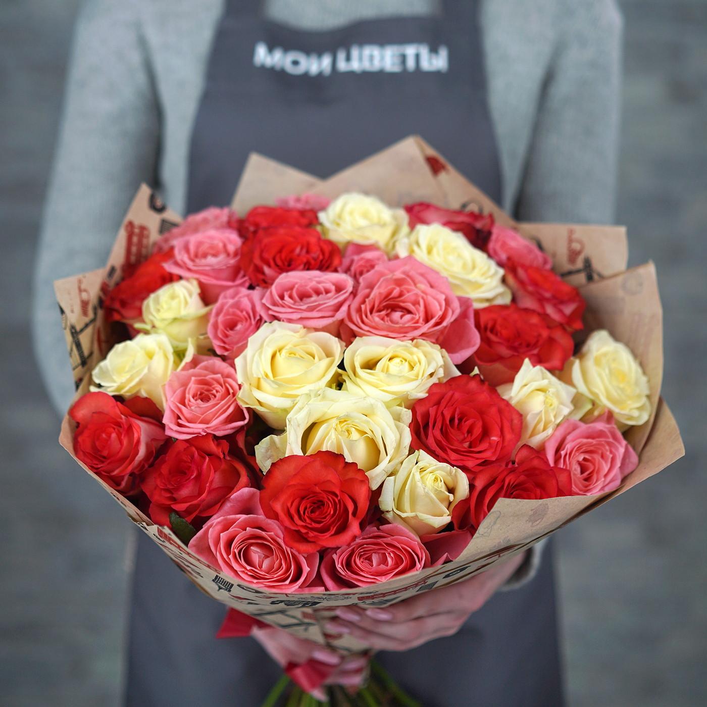 Букет из 31 розы «Шедевр»