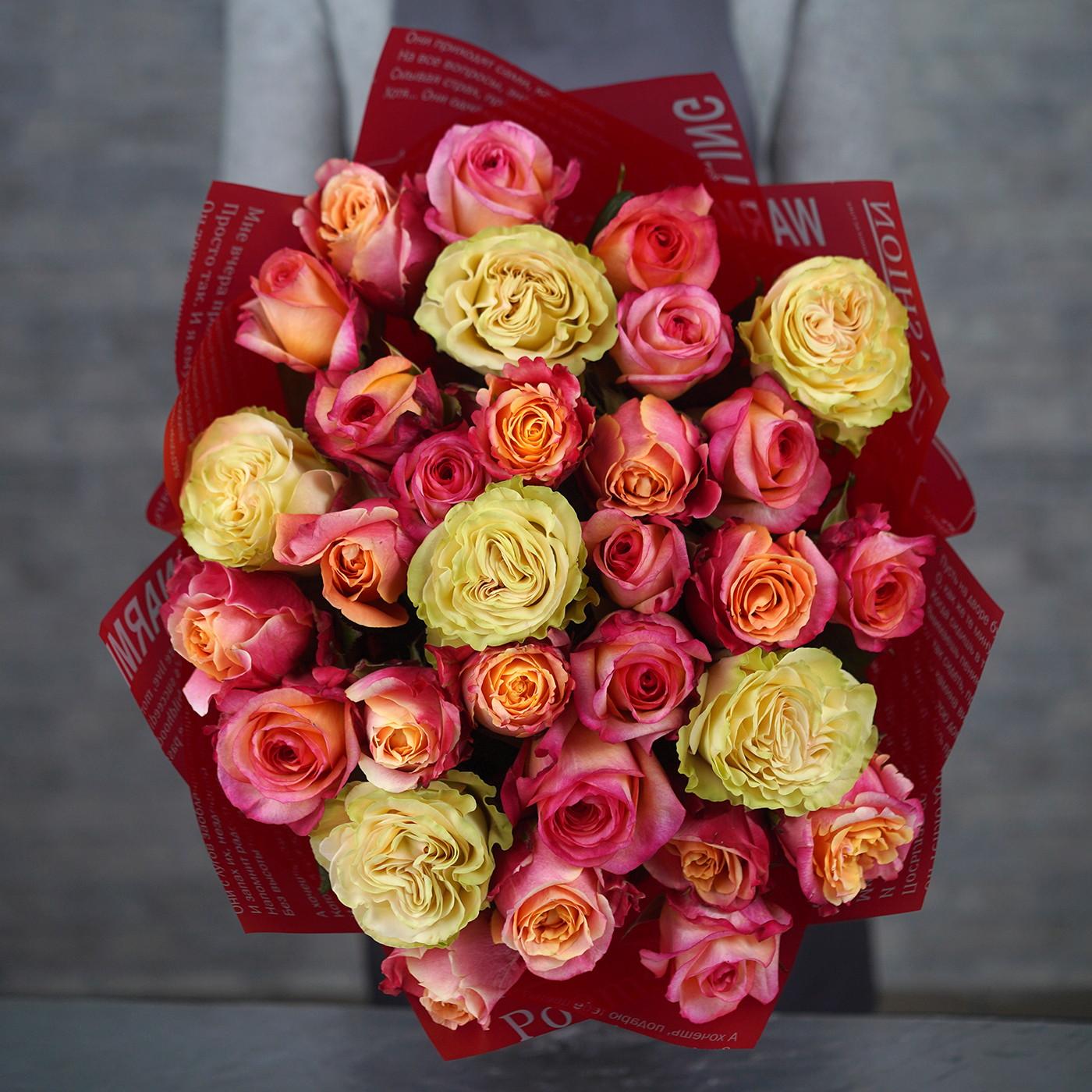 Букет из 31 розы «Нега»