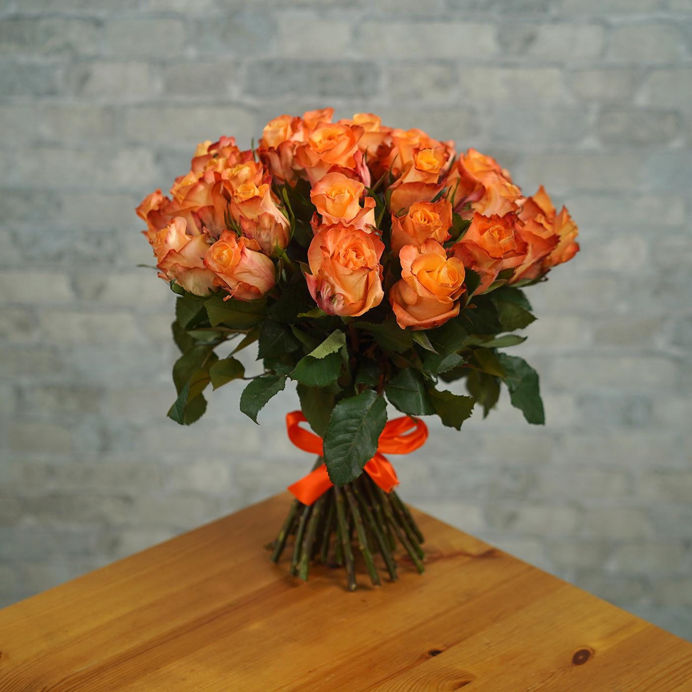 Букет из 35 оранжевых роз «Мэджик»
