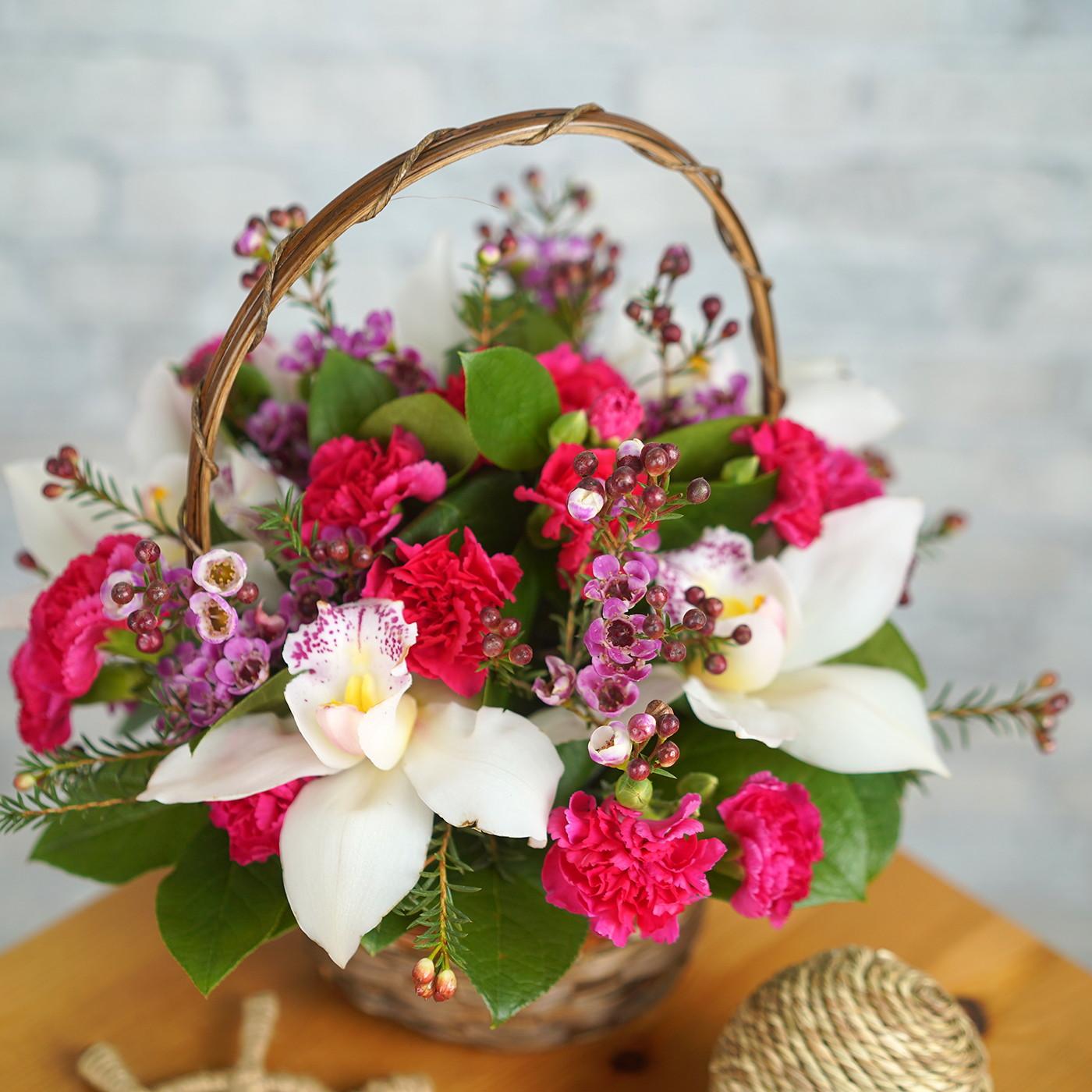 Композиция с орхидеей «Ривьера»