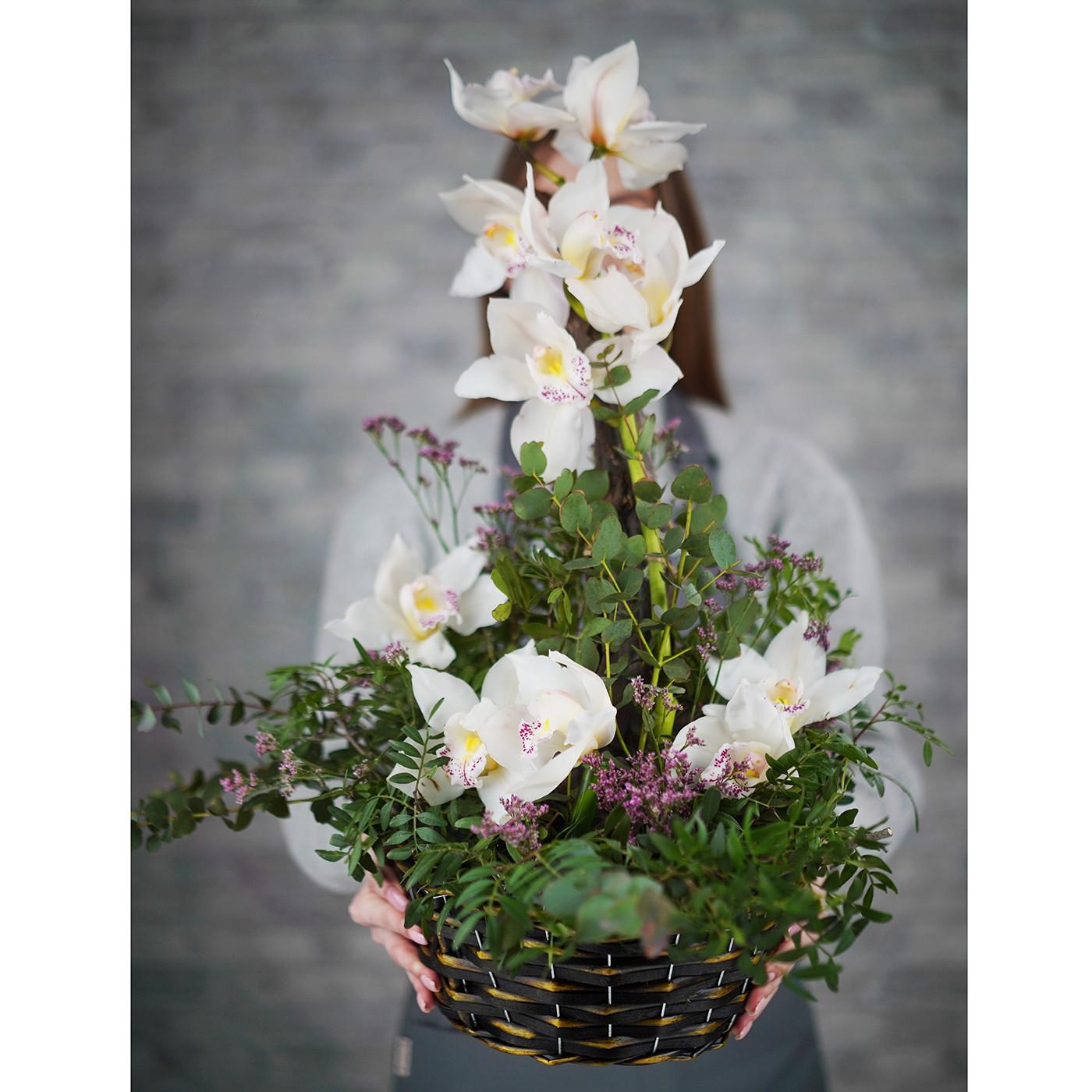 Композиция с орхидеей «Таинственный остров»