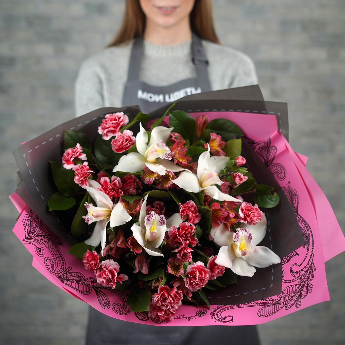 Букет с орхидеей «Мелодия»