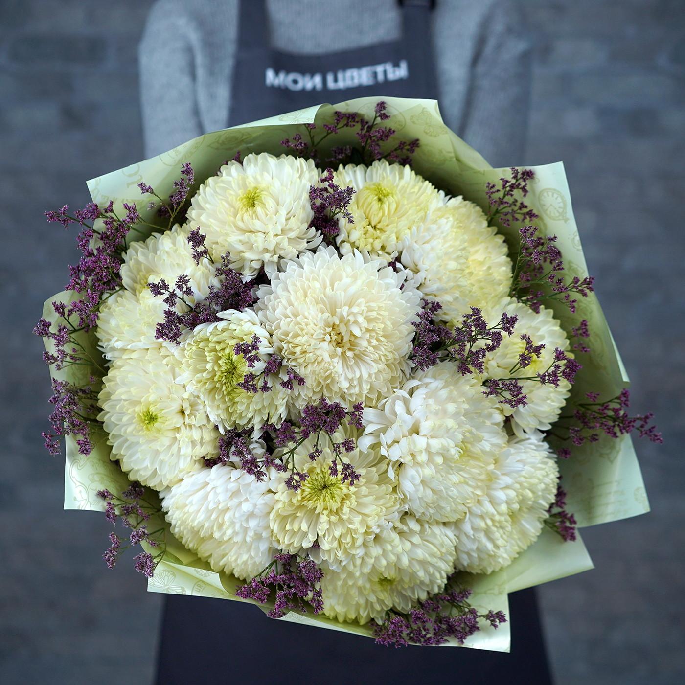 Букет с хризантемой «Летний дождь»
