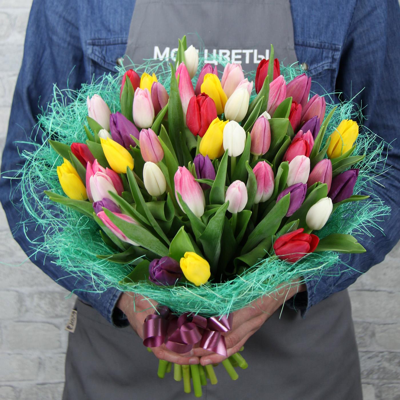 Букет с тюльпаном «Капель»