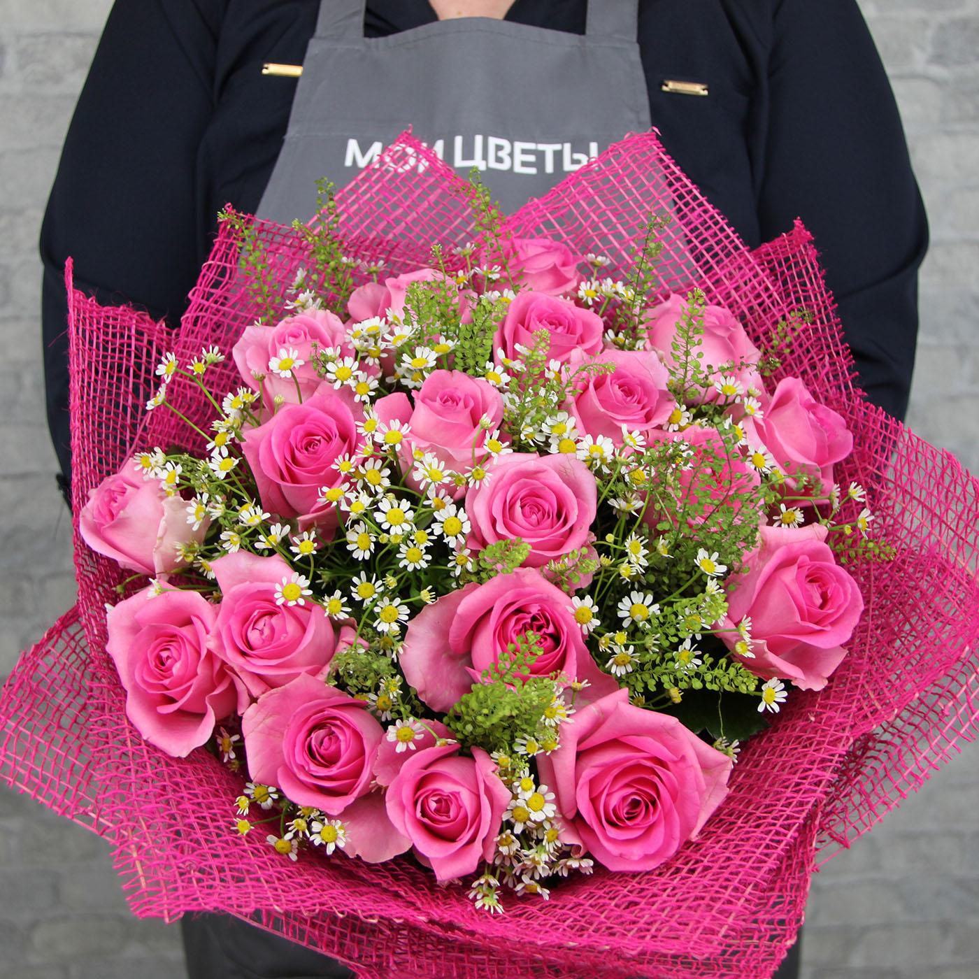Букет из 19 роз «Маршмеллоу»