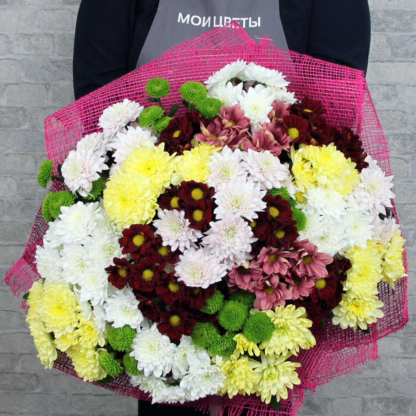 Букет с хризантемой «Абстракция»