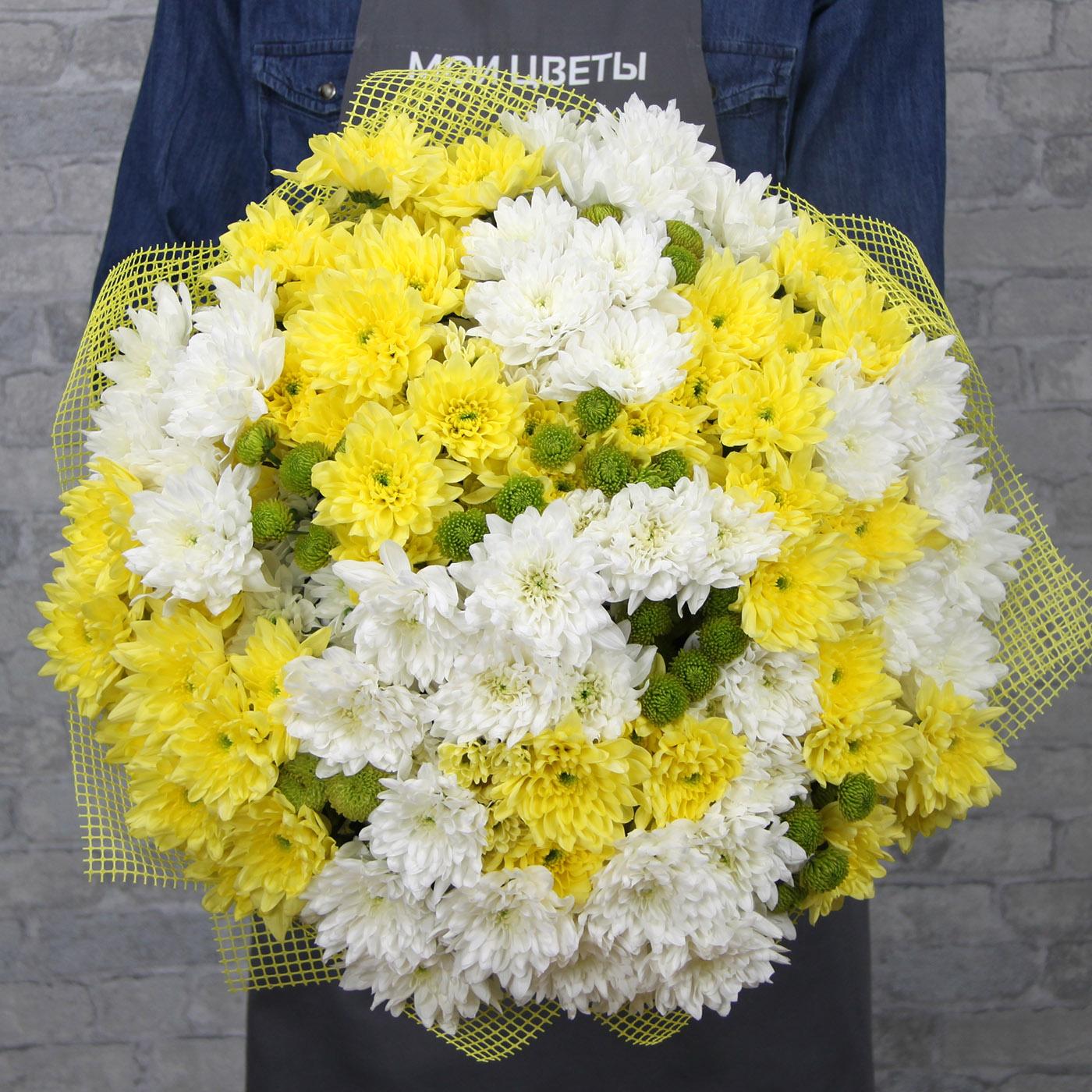 Букет с хризантемой «Не смотри на солнце!»