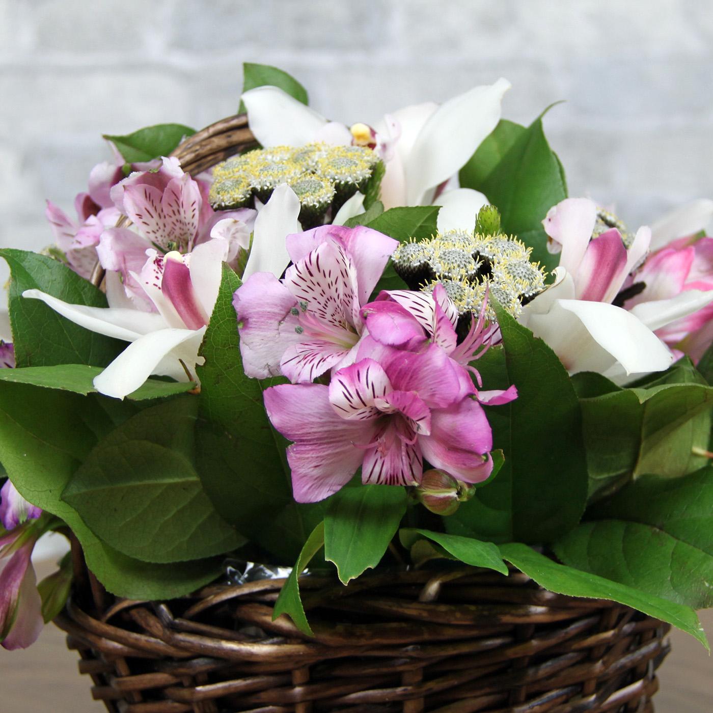 Композиция с орхидеей «Островок»