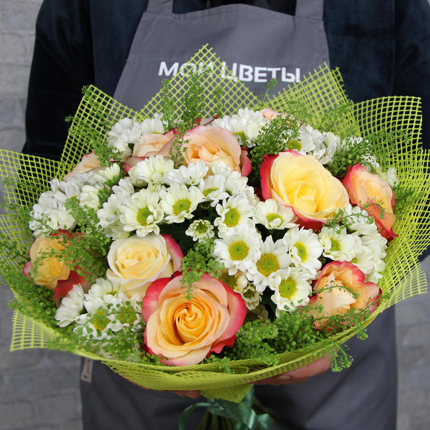 Букет с розой «Мохито»