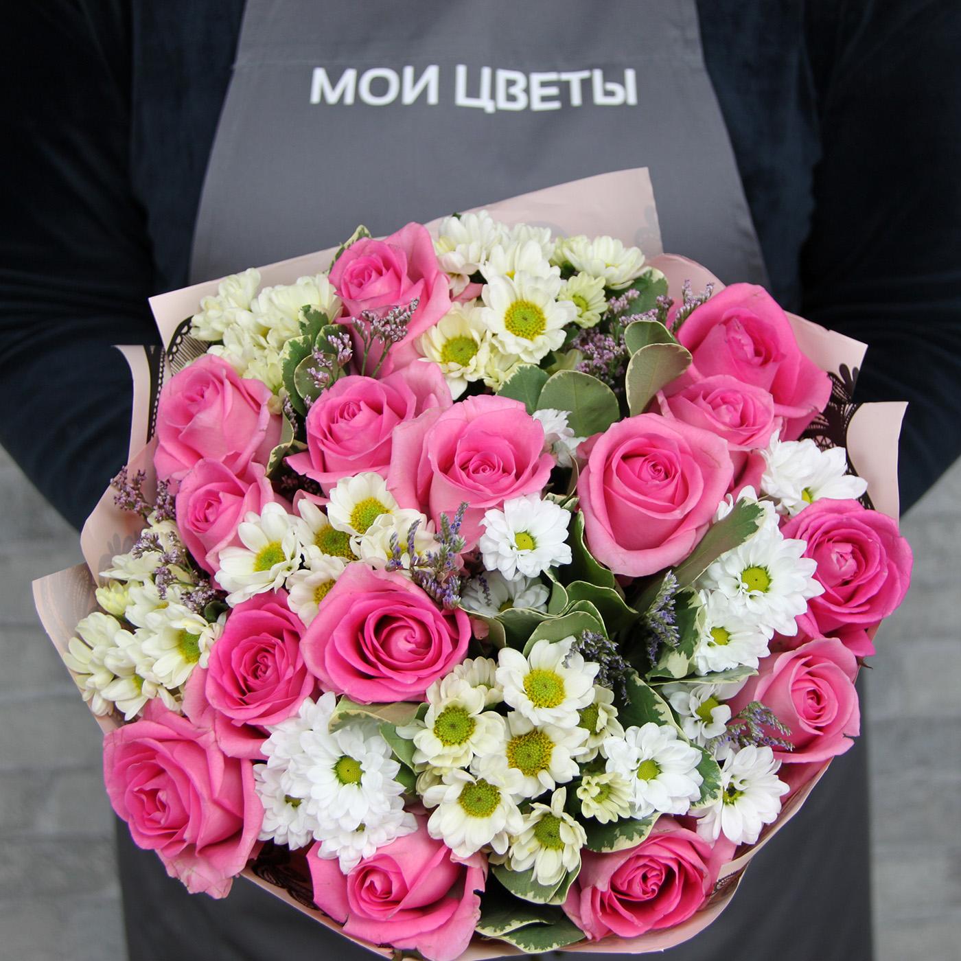 Букет с розой «Спокойствие»