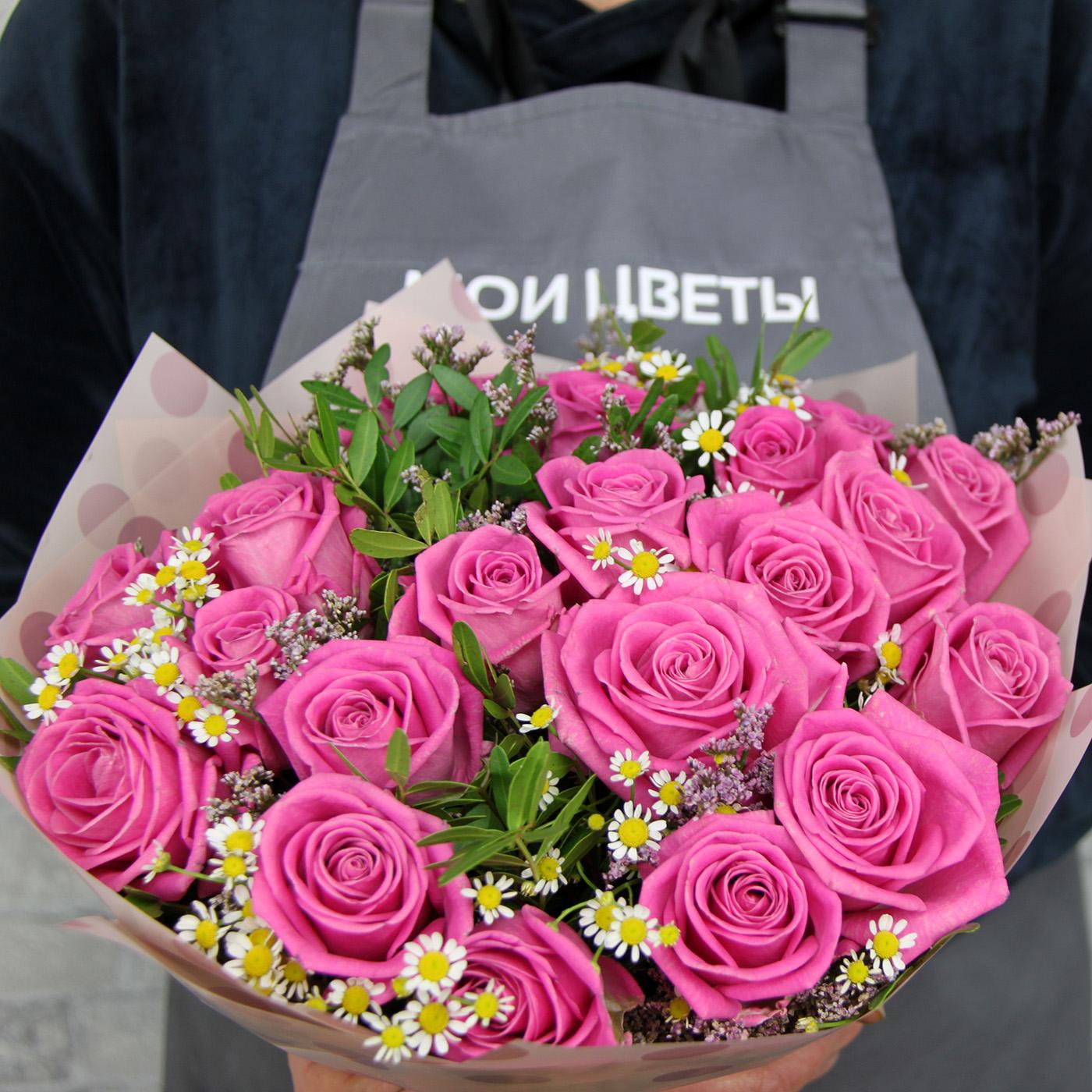 Букет с розой «Липстик»