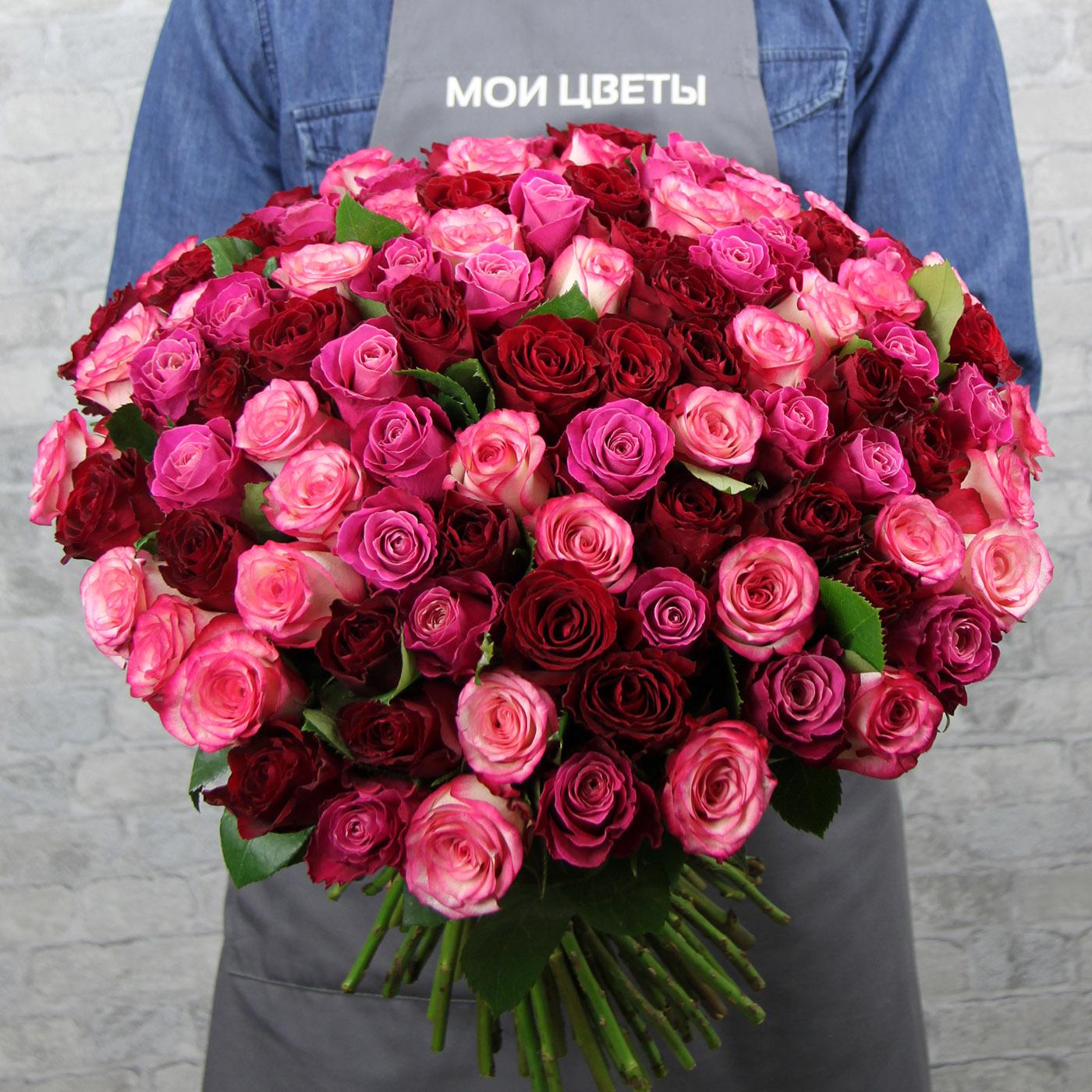 Букет из 101 розы «Радость»