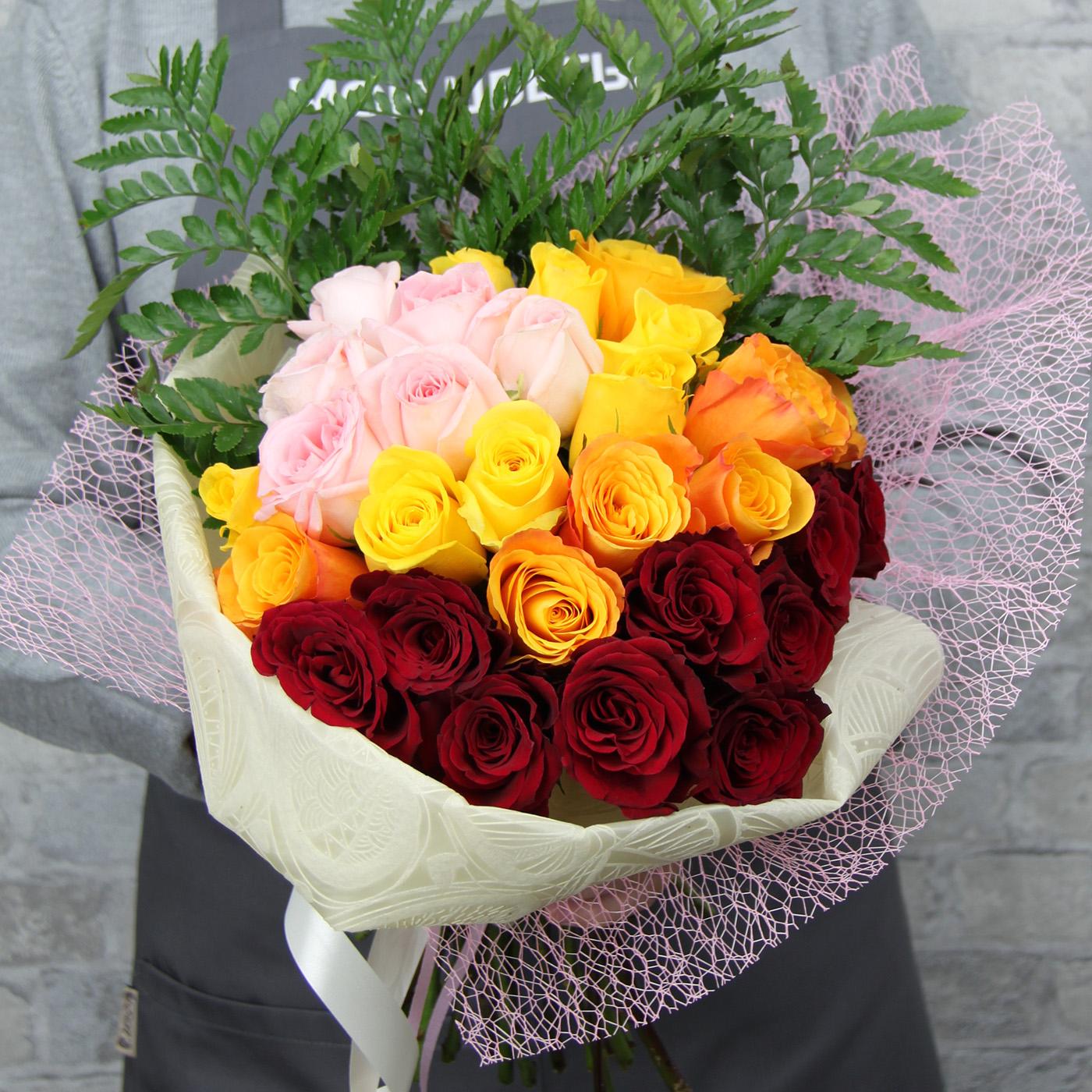 Букет с розой «Теплый вечер»