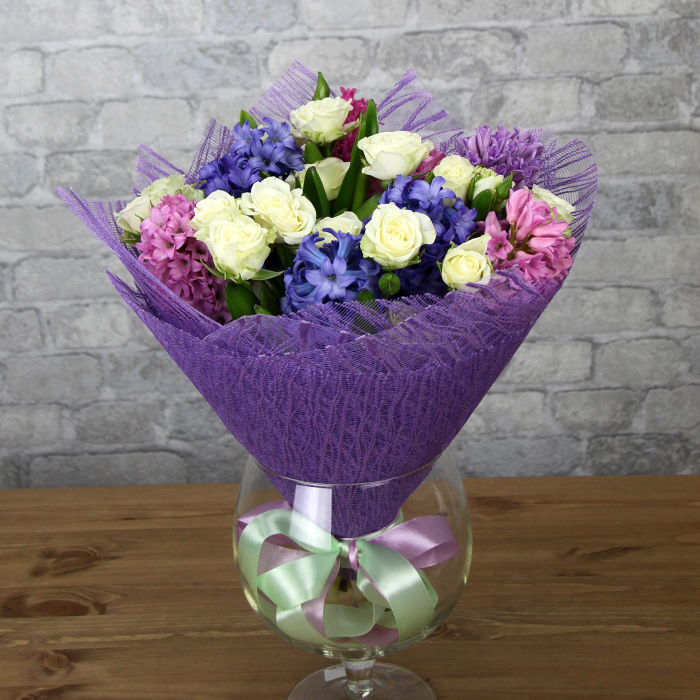 Букет с розой «Весенний аромат»