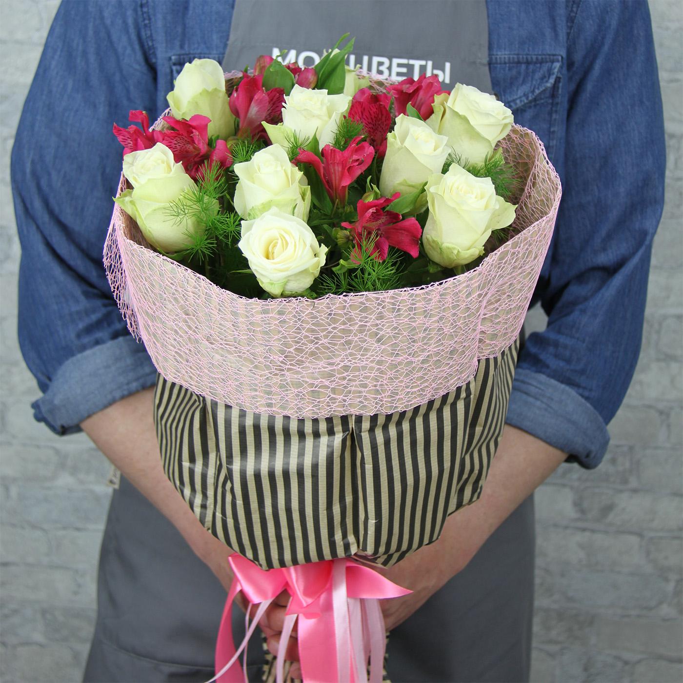 Букет с розой «Галлия»