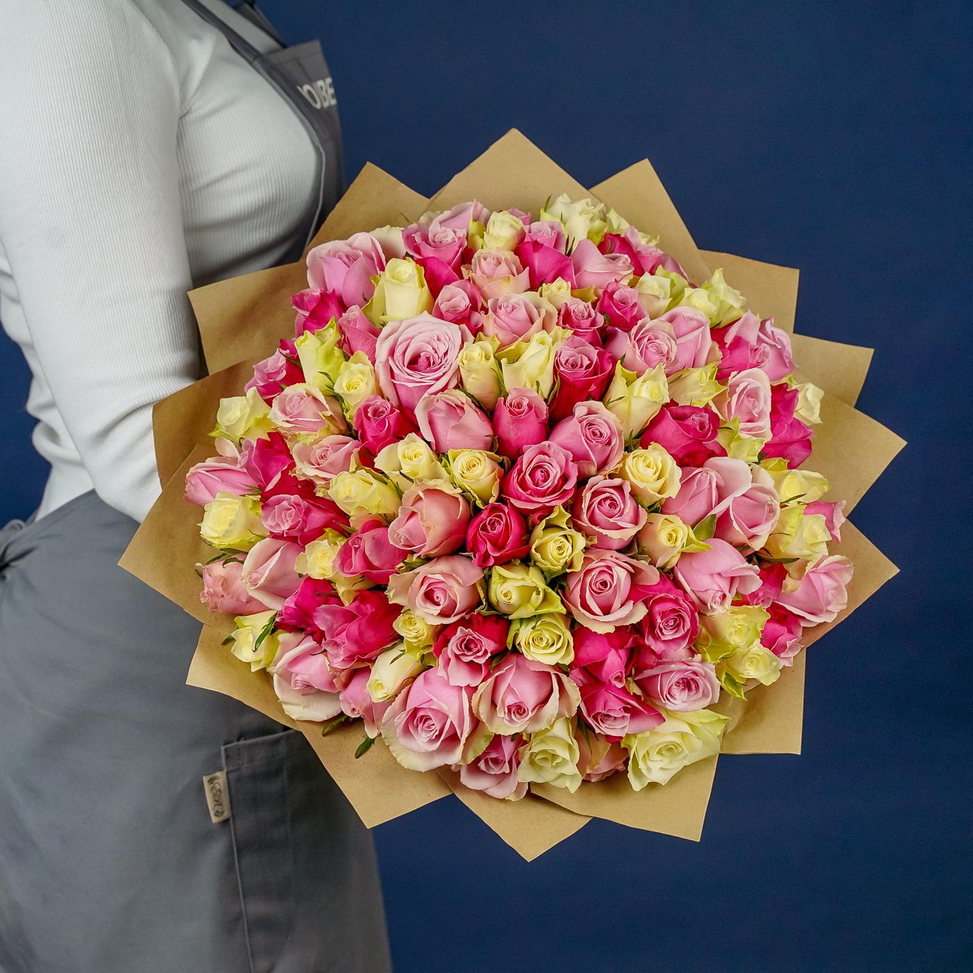 """Букет 101 роза """"Нежность"""""""