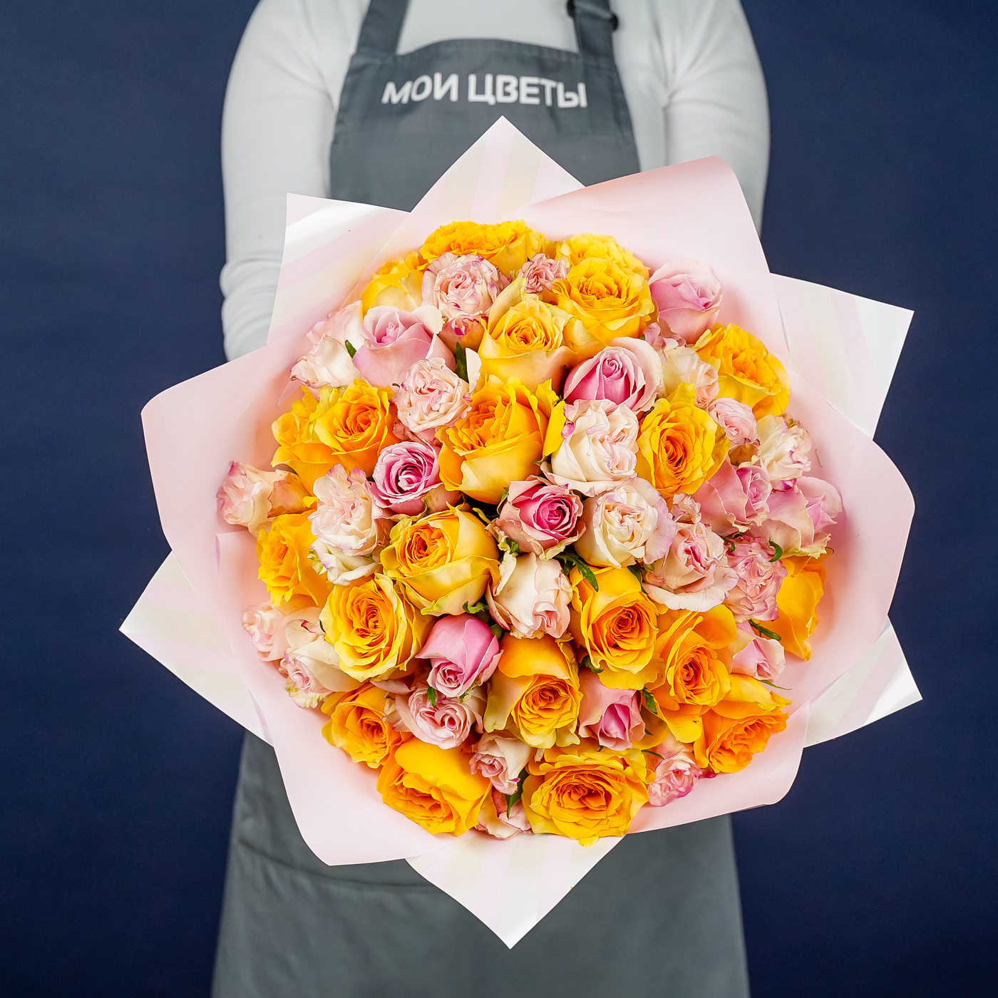 """Букет 51 роза """"Счастье и Нежность"""""""